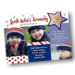 Star Spangled Birthday Party Invitation
