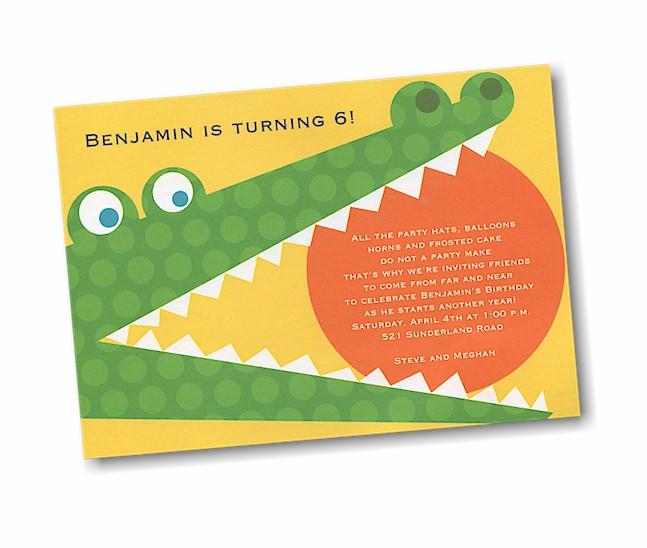 Alligator alley birthday party invitation filmwisefo