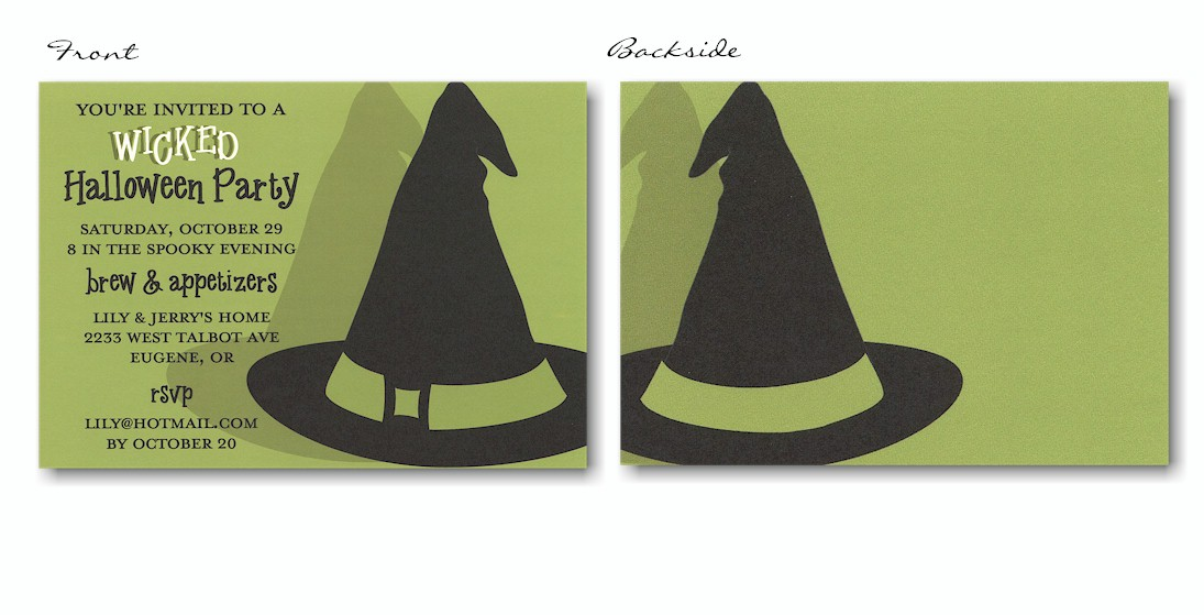 Wicked Hat Halloween Party Invitation