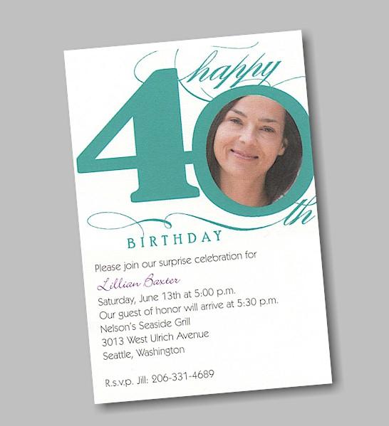 40th birthday invitation templates filmwisefo