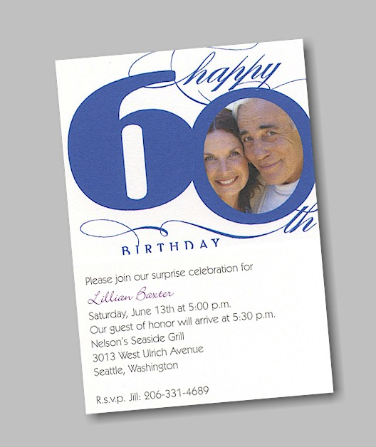 Happy 60th Birthday Invitations